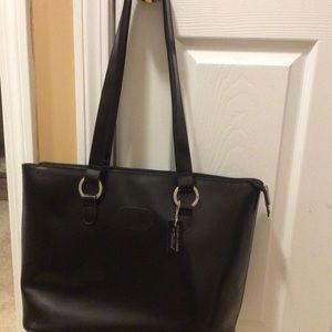 NWOT BELLINO Black leather bag ,laptop ,big